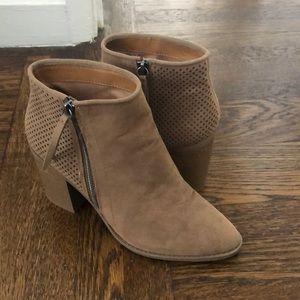 Tan heeled booties
